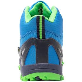 TROLLKIDS Rondane Hiker Botas Corte Medio Niños, azul/verde